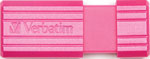 Флеш-накопитель Verbatim 32 Gb PinStripe 49056 USB2.0 Hot Pink