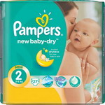 Подгузники Pampers New Baby-Dry Mini 3-6 кг, 27 шт